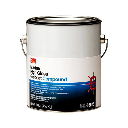 3M HIGH GLOSS GELCOAT COMPOUND 4.3KG