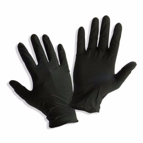 GLOVES BLACK NITRILE SMALL 100