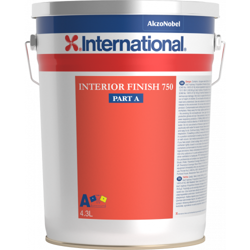 INTERNATIONAL INTERIOR FINISH 750 WHITE 4.3LT BASE RAL9003