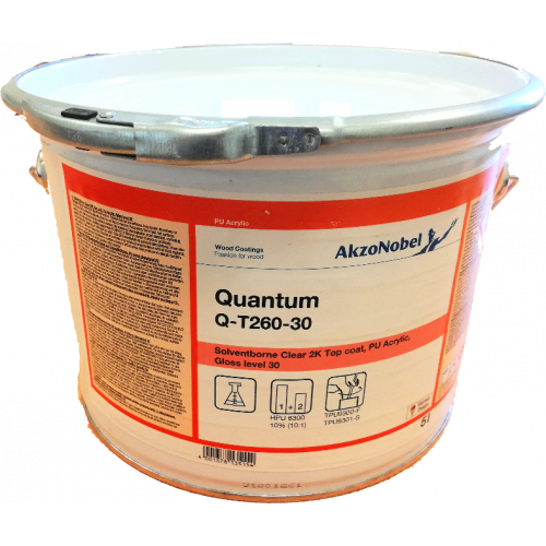 QUANTUM Q-T260-30 (CL8 CRYST) SILK BASE 5LTR 30% CLEAR