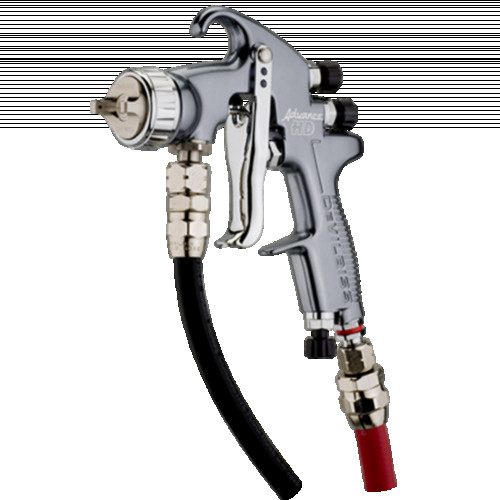 DEVILBISS ADVANCE HD CONVENTIONAL PRESSURE SPRAY GUN  1.0 SETUP 443 AIRCAP